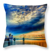Clouds Over Louisville Throw Pillow