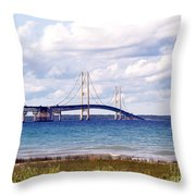 Clouds Over Mackinaw Throw Pillow