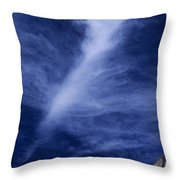 Clouds Over Middle Palisades Glacier California Throw Pillow