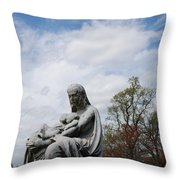 Clouds Over Mother And Twins Throw Pillow