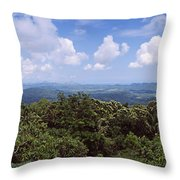 Clouds Over Mountains, Flores Island Throw Pillow