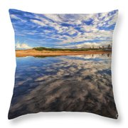 Clouds Over Narrabeen Lake Throw Pillow