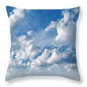 Clouds Over New Mexico Throw Pillow