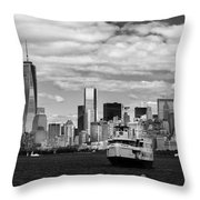 Clouds Over New York Throw Pillow