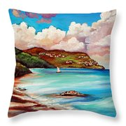 Clouds Over Paradise Throw Pillow