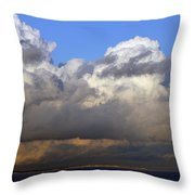 Clouds Over Portsmouth Throw Pillow