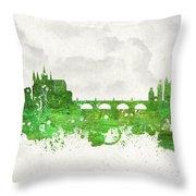 Clouds Over Prague Czech Republic Throw Pillow by Aged Pixel