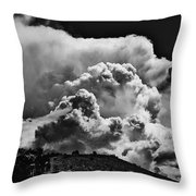 Clouds Over Santa Fe Throw Pillow
