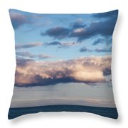 Clouds Over The Atlantic Ocean At Dusk Throw Pillow