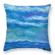 Clouds Over The Blue Ridge Throw Pillow