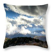 Clouds Over The Blue Ridge Mountains Throw Pillow