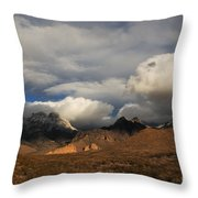 Clouds Over The Organ Mountains Throw Pillow