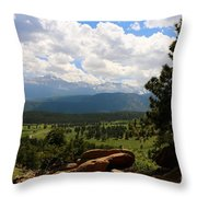 Clouds Over The Rockies Throw Pillow