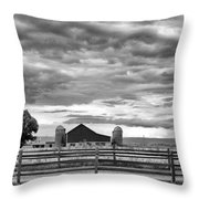 Clouds Over The Upper Midwest Throw Pillow