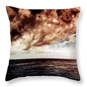 Clouds Over The Water Throw Pillow