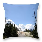 Clouds Over Thermal Area Throw Pillow