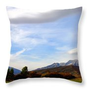 Clouds Over Timp Throw Pillow