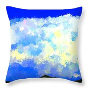 Clouds Overhead Throw Pillow