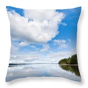 Clouds Reflected In Puget Sound Throw Pillow