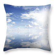 Clouds Reflected Throw Pillow