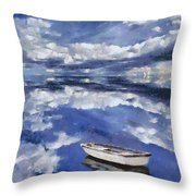 Clouds Reflection  Throw Pillow