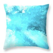 Clouds Rollin' In Throw Pillow