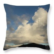 Clouds With Arms Throw Pillow