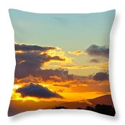Clouds With Colors Throw Pillow