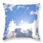 Clouds With Sunshine Throw Pillow