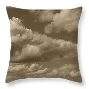 Cloudscape In Sepia Throw Pillow