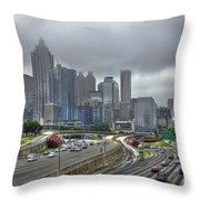Cloudy Atlanta Capital Of The South Throw Pillow