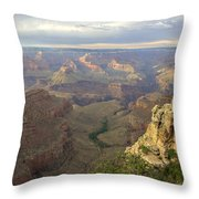 Cloudy Bright Angel Trail  Throw Pillow