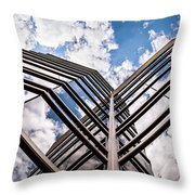 Cloudy Building Throw Pillow