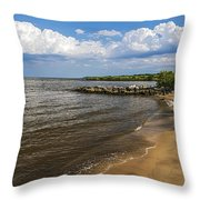 Cloudy Ceiling Throw Pillow