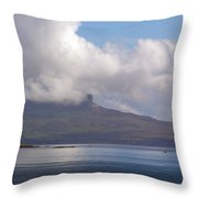 Cloudy Coast 1 Throw Pillow