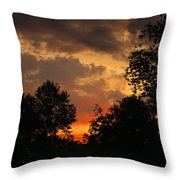 Cloudy Dawn Throw Pillow
