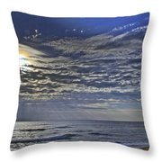 Cloudy Day At The Beach Throw Pillow