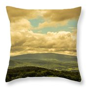 Cloudy Day In New Hampshire Throw Pillow