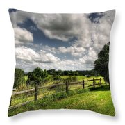 Cloudy Day In The Country Throw Pillow