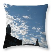 Cloudy In Cleveland Throw Pillow