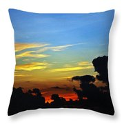 Cloudy Morning In Fort Lauderadale Throw Pillow