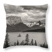Cloudy Mountain Top Throw Pillow by Jon Glaser