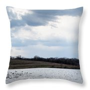 Cloudy Spring Day Throw Pillow