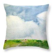 Cloudy Summerday Throw Pillow