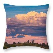 Cloudy Sunset Throw Pillow by Omaste Witkowski