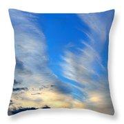 Cloudy Sunset Throw Pillow