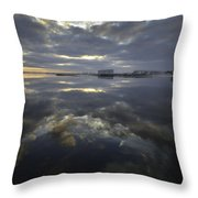 Cloudy Terrys Cove Throw Pillow