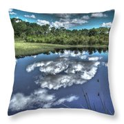 Cloudy Waters Throw Pillow