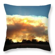 Clover Fire At 5 25 Pm Throw Pillow