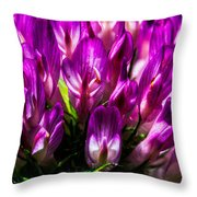 Clover Flower Throw Pillow